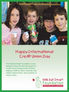 KidsEatSmartFoundation wishes you a Happy International Credit Union Day